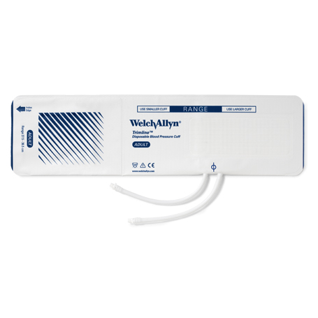 99811: Trimline Vinyl Disposable Two-tube Cuffs with Bare Tubes, Adult (20/case)